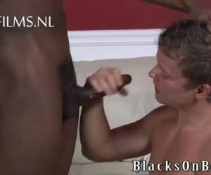 The face of the gay leaves of the anal pain by big black cock