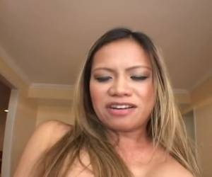 She spits on the big cock and let her pussy fuck